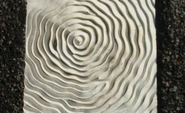 bali ripple wall art piece