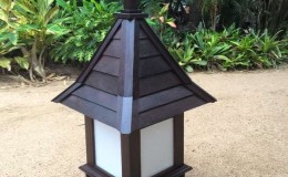 tall roofed lamp