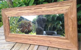 wide timber frame mirror